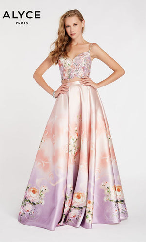 Alyce Paris 60432 prom dress images.  Alyce Paris 60432 is available in these colors: Peach Meringue.