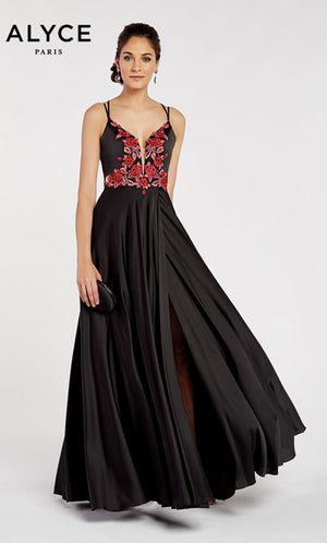Alyce Paris 60460 prom dress images.  Alyce Paris 60460 is available in these colors: Black Rose.