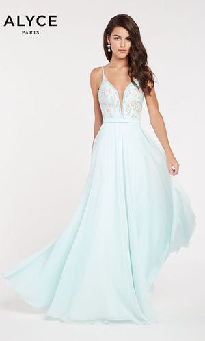 Alyce Paris 60463 prom dress images.  Alyce Paris 60463 is available in these colors: Hush Blush,  Diamond White Blue.