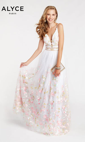 Alyce Paris 60464 prom dress images.  Alyce Paris 60464 is available in these colors: Diamond White.
