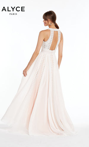 Alyce Paris 60471 prom dress images.  Alyce Paris 60471 is available in these colors: Ivory Pink.