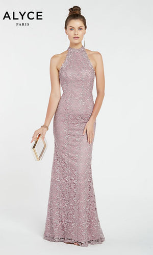 Alyce Paris 60484 prom dress images.  Alyce Paris 60484 is available in these colors: Heather,  Lipstick.