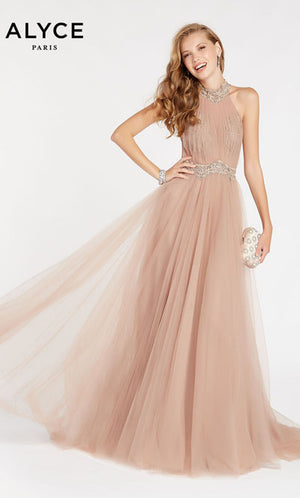Alyce Paris 60486 prom dress images.  Alyce Paris 60486 is available in these colors: Rosewood.