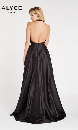 Alyce Paris 60494 prom dress images.  Alyce Paris 60494 is available in these colors: Black Pink.