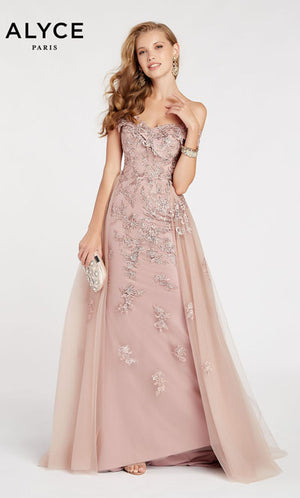 Alyce Paris 60497 prom dress images.  Alyce Paris 60497 is available in these colors: Mauve.