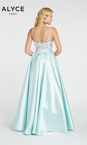 Alyce Paris 60504 prom dress images.  Alyce Paris 60504 is available in these colors: Shell,  Sea Glass,  Diamond White.