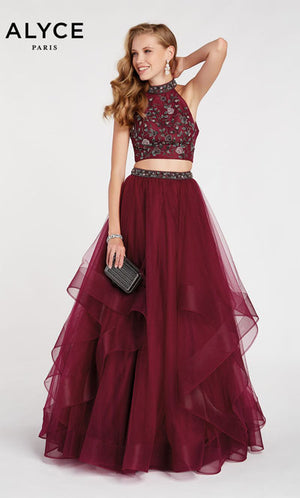 Alyce Paris 60512 prom dress images.  Alyce Paris 60512 is available in these colors: Black Plum.