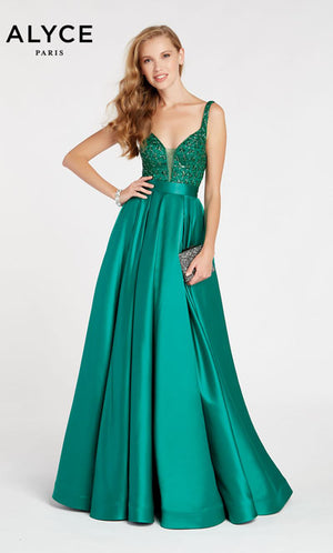 Alyce Paris 60515 prom dress images.  Alyce Paris 60515 is available in these colors: Emerald.