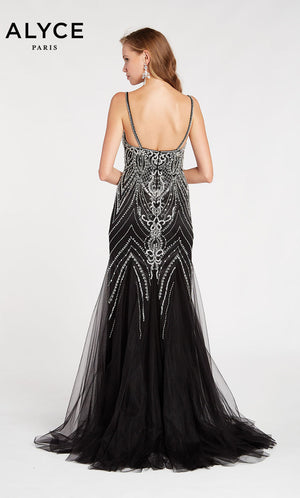 Alyce Paris 60526 prom dress images.  Alyce Paris 60526 is available in these colors: Black Rosegold.