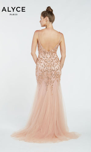 Alyce Paris 60527 prom dress images.  Alyce Paris 60527 is available in these colors: Rose Taupe.