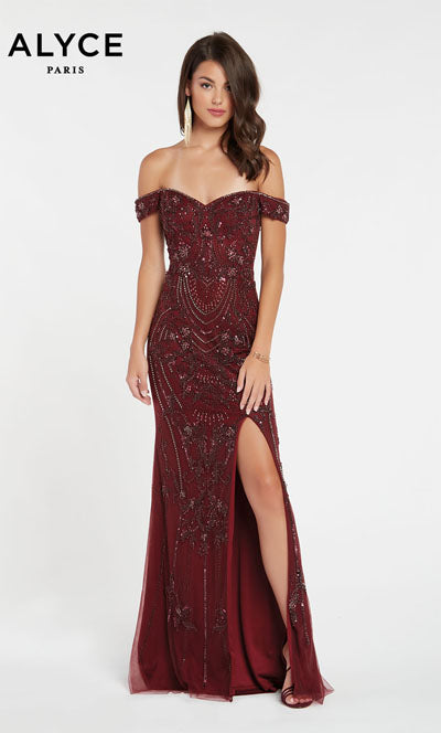 Alyce Paris 60532 prom dress images.  Alyce Paris 60532 is available in these colors: Black Cherry.