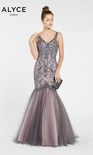 Alyce Paris 60533 prom dress images.  Alyce Paris 60533 is available in these colors: Stone Cold,  Black Cherry.