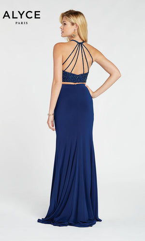 Alyce Paris 60544 prom dress images.  Alyce Paris 60544 is available in these colors: Wine,  Navy,  Forest Green.