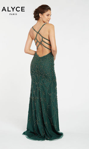 Alyce Paris 60545 prom dress images.  Alyce Paris 60545 is available in these colors: Forest Green.
