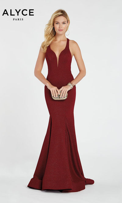 Alyce Paris 60550 prom dress images.  Alyce Paris 60550 is available in these colors: Wine,  Glacier Blue.