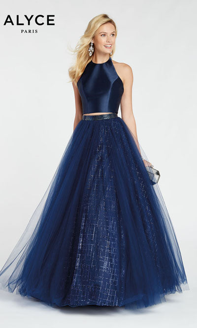 Alyce Paris 60560 prom dress images.  Alyce Paris 60560 is available in these colors: Wine,  Navy.