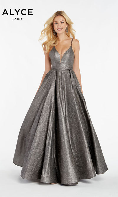 Alyce Paris 60564 prom dress images.  Alyce Paris 60564 is available in these colors: Dripping Diamonds,  Mermaid,  Unicorn Purple,  Santorini Blue.