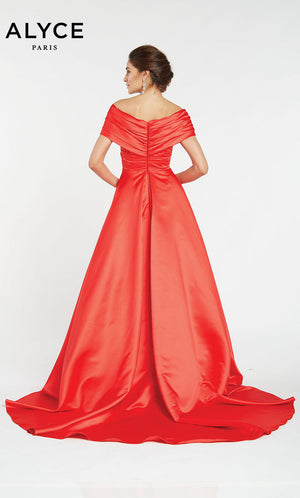Alyce Paris 60565 prom dress images.  Alyce Paris 60565 is available in these colors: Red,  Diamond White.