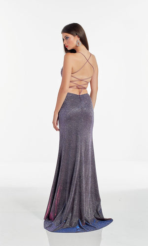Alyce Paris 60873 prom dress images.  Alyce Paris 60873 is available in these colors: Blueberry,  Santorini Blue.