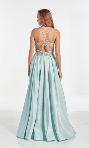Alyce Paris 60876 prom dress images.  Alyce Paris 60876 is available in these colors: Mint,  Pink Champagne.