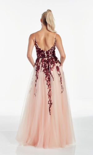 Alyce Paris 60891 prom dress images.  Alyce Paris 60891 is available in these colors: Azure Blue Diamond White,  Black Cherry Blush.