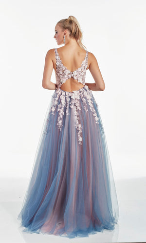 Alyce Paris 60894 prom dress images.  Alyce Paris 60894 is available in these colors: Silver Lake French Pink,  Storm Cloud Pink,  Diamond White Blush,  Diamond White Solid.