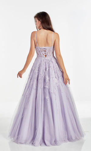 Alyce Paris 60895 prom dress images.  Alyce Paris 60895 is available in these colors: Lavender,  Black Cherry,  Diamond White Blush,  Diamond White Solid.