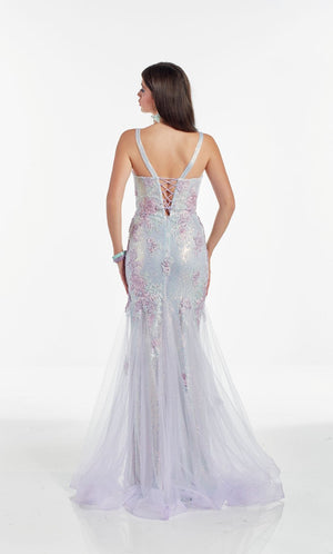 Alyce Paris 60914 prom dress images.  Alyce Paris 60914 is available in these colors: Lilac.
