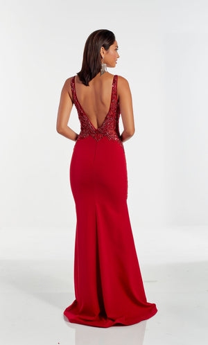 Alyce Paris 60949 prom dress images.  Alyce Paris 60949 is available in these colors: Wine,  Midnight,  Pine.