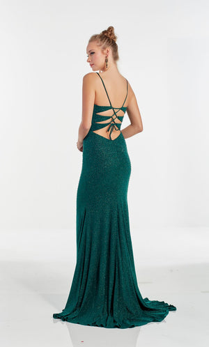 Alyce Paris 60968 prom dress images.  Alyce Paris 60968 is available in these colors: Emerald,  Red,  Glacier Blue,  White,  Cobalt.