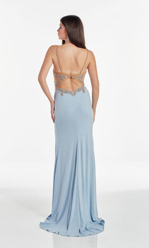 Alyce Paris 60972 prom dress images.  Alyce Paris 60972 is available in these colors: Glacier Blue, Cobalt, Red, Emerald.