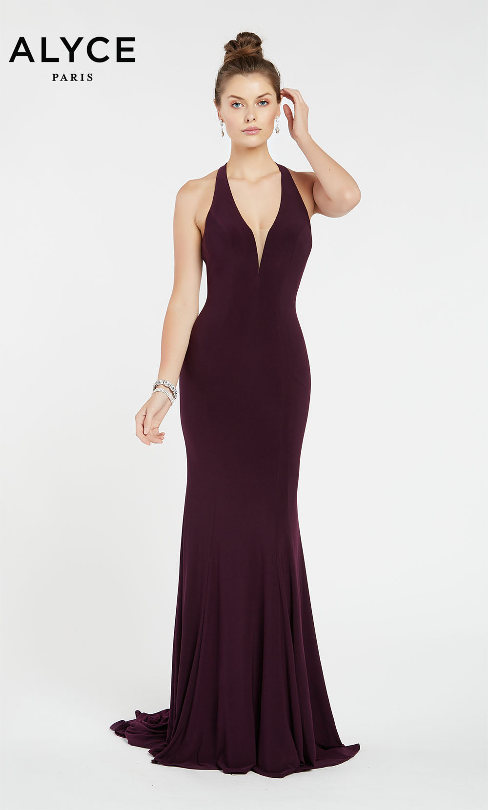 Alyce Paris 1372 prom dress images.  Alyce Paris 1372 is available in these colors: Black Plum,  Pine,  Claret.