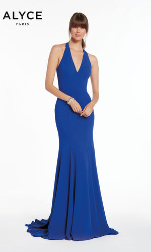 Alyce Paris 1373 prom dress images.  Alyce Paris 1373 is available in these colors: Royal,  Black.
