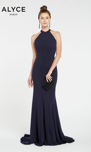 Alyce Paris 1374 prom dress images.  Alyce Paris 1374 is available in these colors: Black,  Navy.