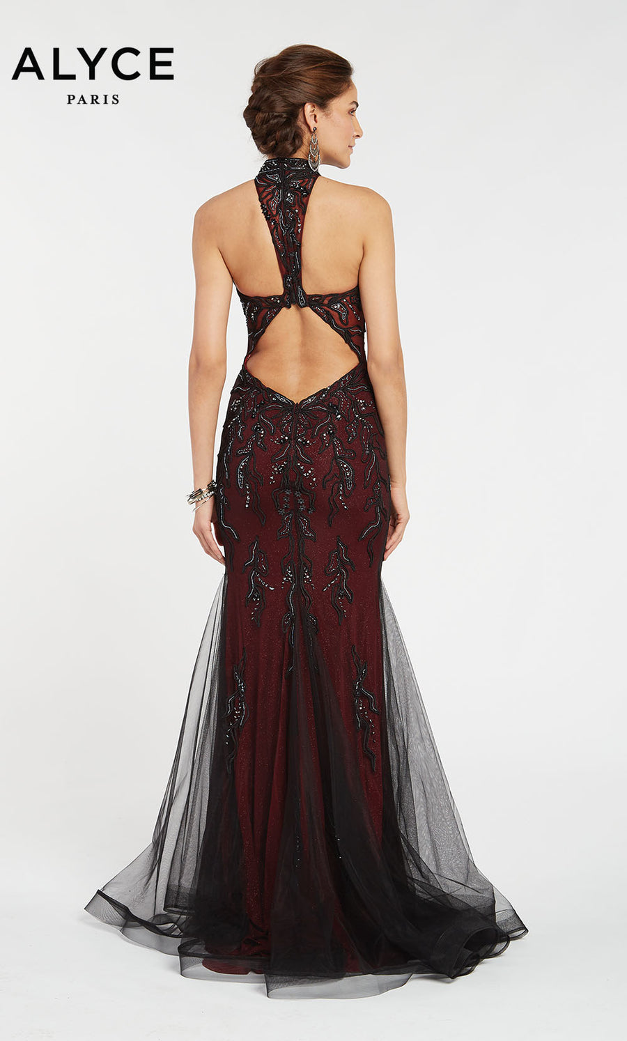 Alyce Paris 1399 prom dress images.  Alyce Paris 1399 is available in these colors: Black Wine.