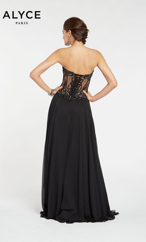 Alyce Paris 1400 prom dress images.  Alyce Paris 1400 is available in these colors: Black.