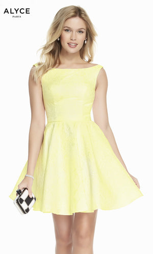Alyce Paris 1444 prom dress images.  Alyce Paris 1444 is available in these colors: Diamond White, Yellow, Light Pink, Black.