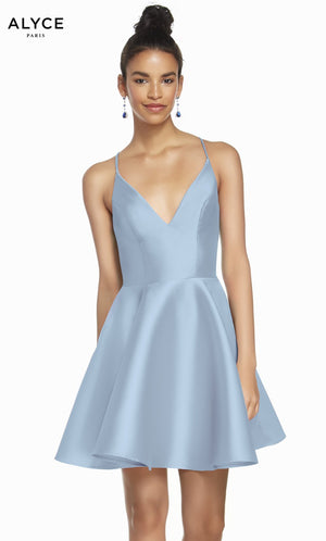 Alyce Paris 1454 prom dress images.  Alyce Paris 1454 is available in these colors: Hunter Green, Light Blue, Yellow, Hot Pink, Royal, Black.