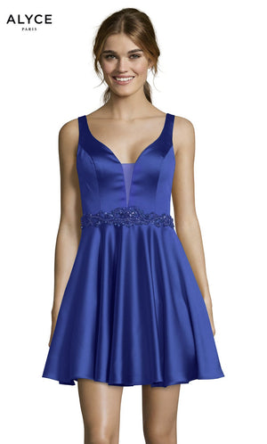 Alyce Paris 1464 prom dress images.  Alyce Paris 1464 is available in these colors: Black, Royal, Claret.