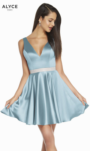 Alyce Paris 1466 prom dress images.  Alyce Paris 1466 is available in these colors: Black, Rosewood, Royal, Powder Blue.