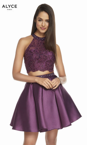 Alyce Paris 1488 prom dress images.  Alyce Paris 1488 is available in these colors: Black Plum.