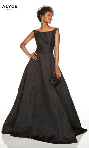 Alyce Paris 1506 prom dress images.  Alyce Paris 1506 is available in these colors: Black.