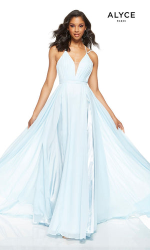 Alyce Paris 1512 prom dress images.  Alyce Paris 1512 is available in these colors: Powder Blue, Red, Diamond White.
