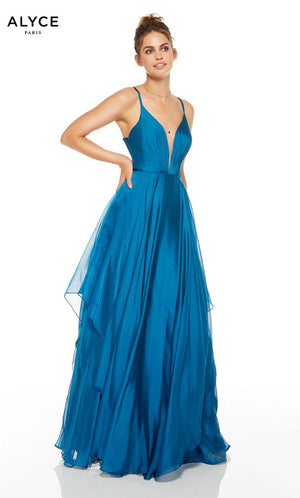 Alyce Paris 1513 prom dress images.  Alyce Paris 1513 is available in these colors: Deep Water.