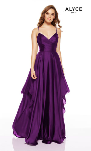 Alyce Paris 1514 prom dress images.  Alyce Paris 1514 is available in these colors: Wine, Amethyst, Cobalt, Rosewood, Cinnamon, Forest Green.