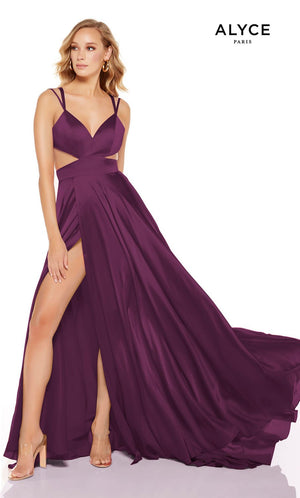 Alyce Paris 1516 prom dress images.  Alyce Paris 1516 is available in these colors: Lipstick, Cobalt, Soft Jade, Black Plum, Black.