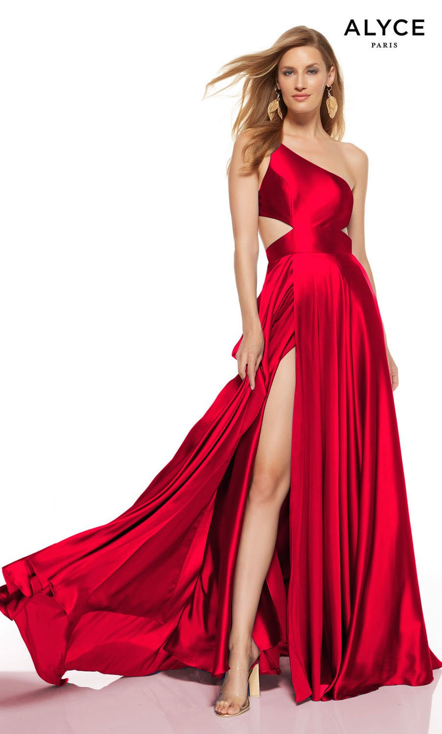 Alyce Paris 1517 prom dress images.  Alyce Paris 1517 is available in these colors: Lipstick, Sapphire, Black.