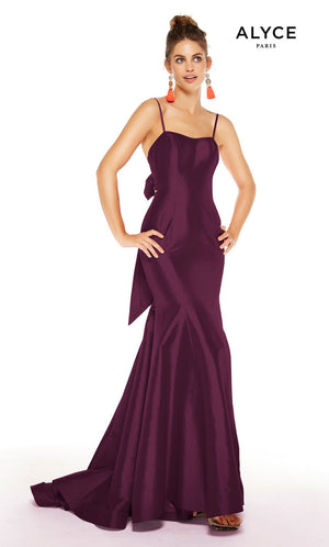 Alyce Paris 1519 prom dress images.  Alyce Paris 1519 is available in these colors: Red, Royal, Emerald, Black Plum.