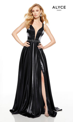Alyce Paris 1523 prom dress images.  Alyce Paris 1523 is available in these colors: Olive Green, Wine, Navy, Black.