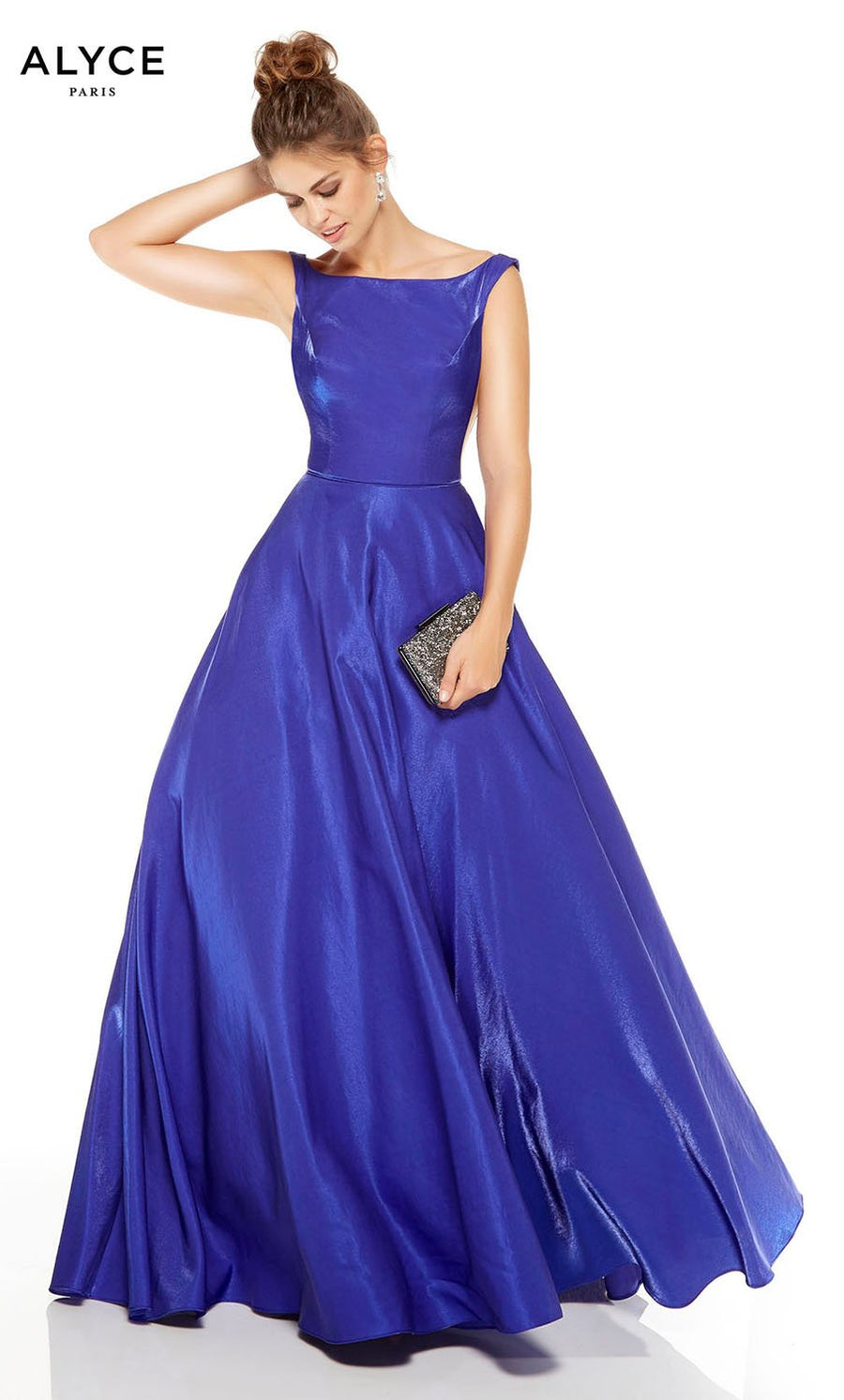 Alyce Paris 1524 prom dress images.  Alyce Paris 1524 is available in these colors: Cobalt, Wine, Cameo Pink.